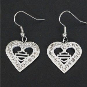 NEW !🔥Heart HD Rhinestone Earrings